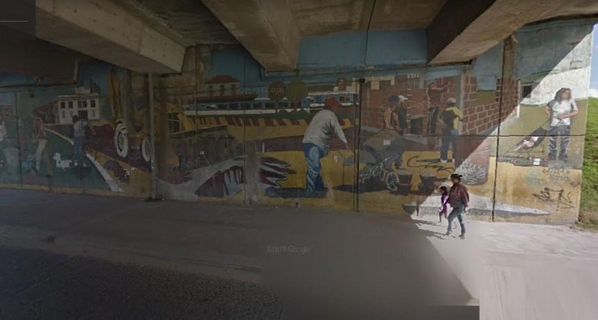 """Hugo Mitetiero: """"En Moreno repudiamos la decisión de la intendenta de tapar los históricos murales del puente de Ruta 23"""""""