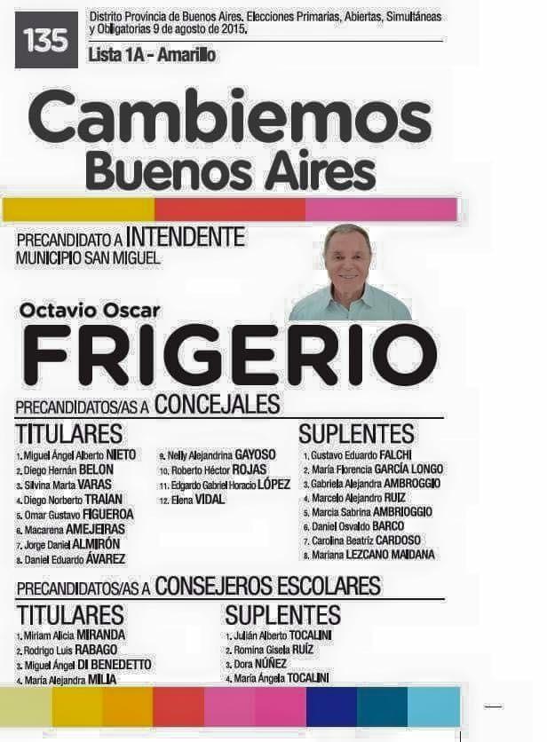 """San Miguel: El padre del ministro Frigerio aparece en la lista de """"aportes truchos"""""""