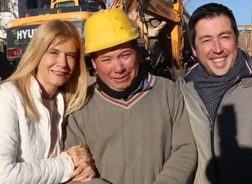 Malvinas Argentinas: Magario recorrió junto al intendente Nardini obras de pavimentación