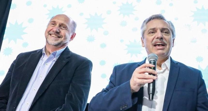 Santa Fe: Alberto Fernández junto a Perotti anunció más federalismo en el futuro gobierno