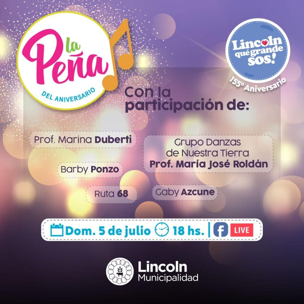 "Lincoln: Este domingo ""La Peña"" regresa a puro festejo"