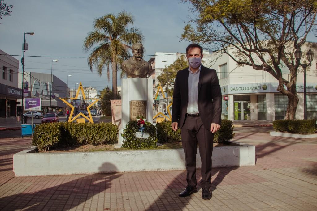Campana: Abella encabezó el acto virtual por el 135° aniversario de la ciudad