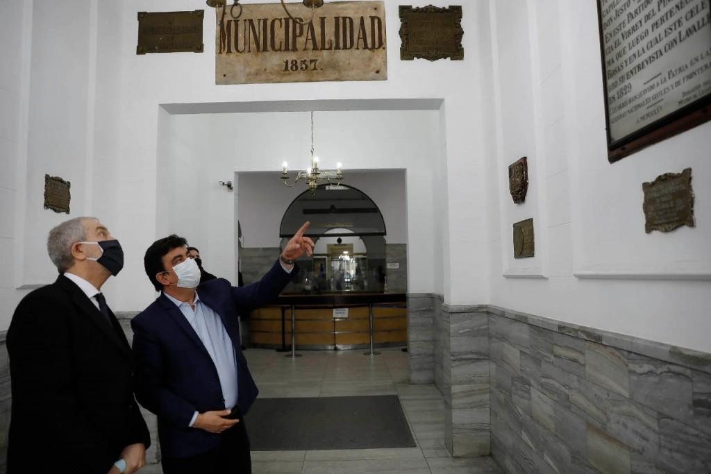Espinoza recibió a Alak para poner en marcha la Ciudad Judicial en La Matanza