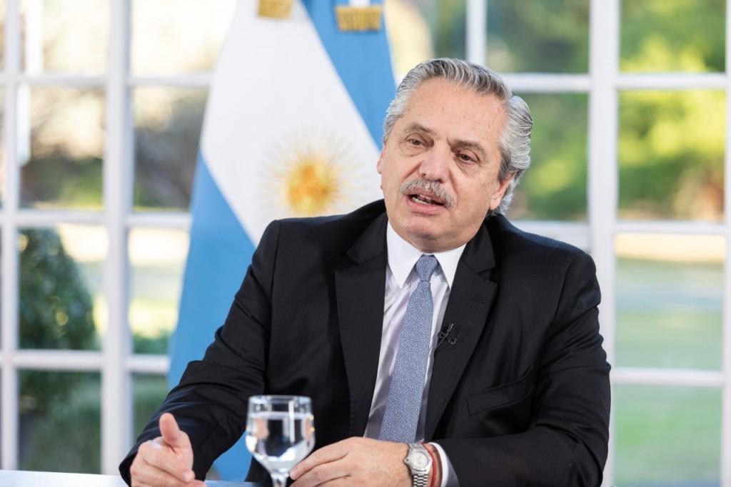 El Presidente participó por videoconferencia de la recorrida de las obras de un nuevo puerto en Timbúes