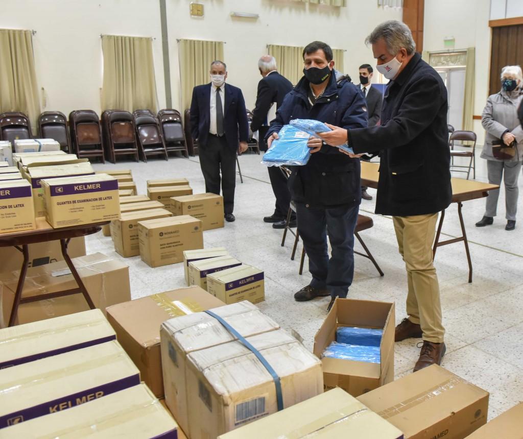 Bahía Blanca: El Municipio recibió donaciones de insumos y mercadería