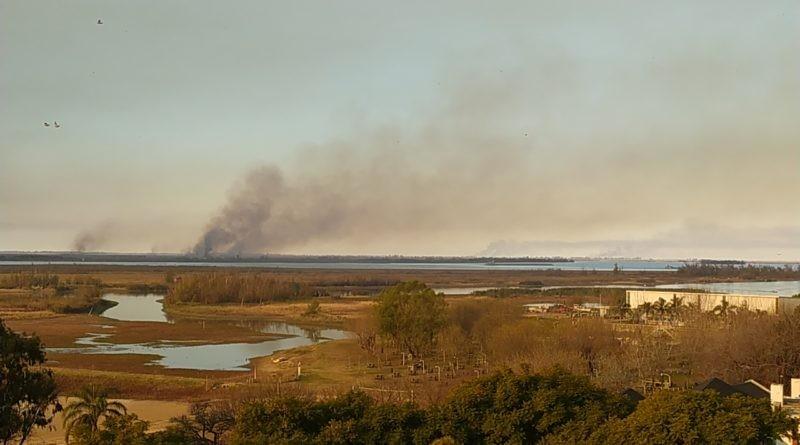 San Pedro: La Municipalidad presentó una denuncia por los incendios en las islas