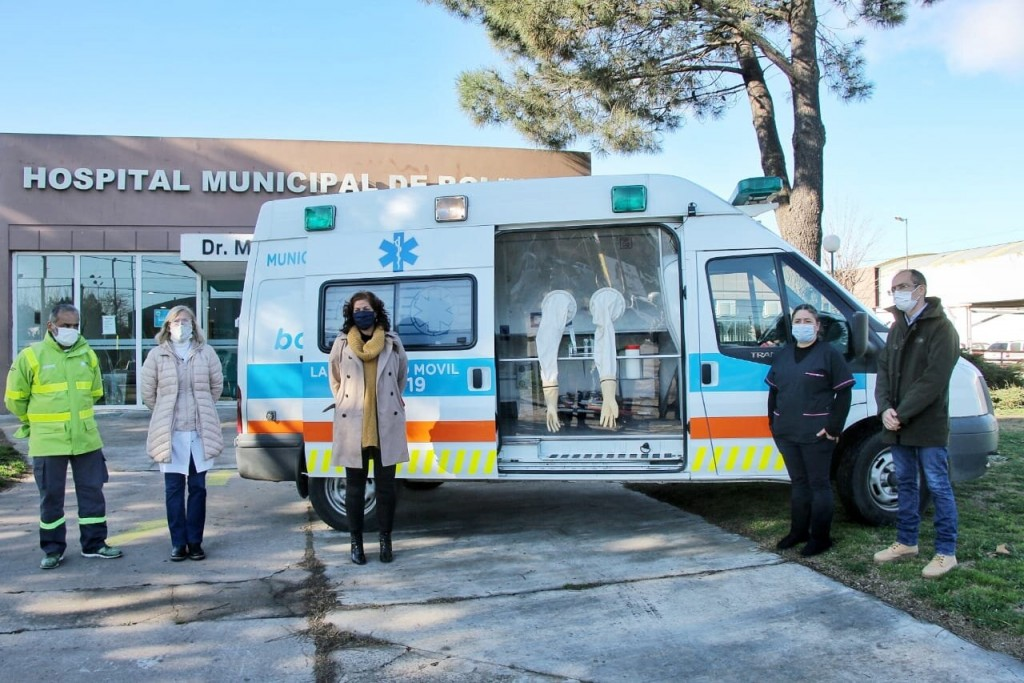 Bolívar: El intendente Pisano presento una nueva unidad de testeo móvil
