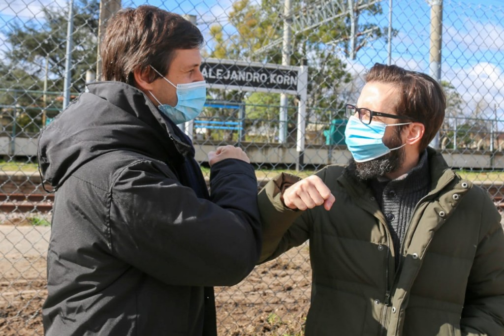 San Vicente: Mantegazza junto al ministro Simone iniciaron obra en la estación Alejandro Korn