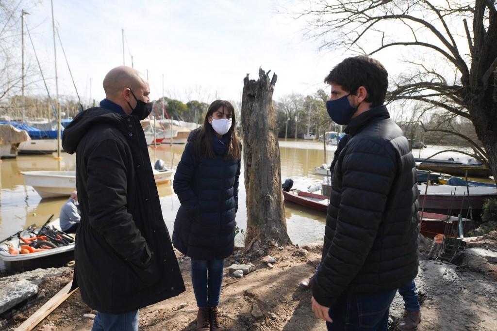San Fernando: Andreotti supervisó la obra del nuevo Muelle Público para vecinos isleños