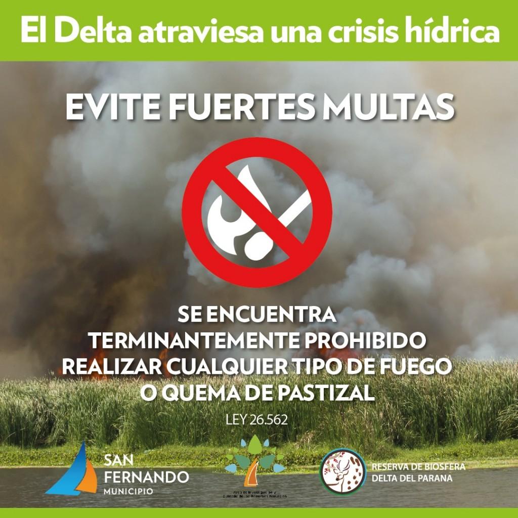 San Fernando advierte sobre los peligros de la quema de pastizales en el Delta