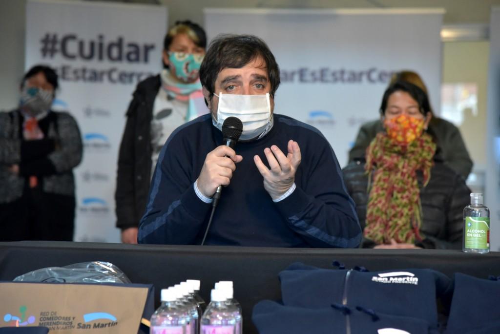 San Martín: Fernando Moreira se reunió con representantes de los 180 comedores de la red local