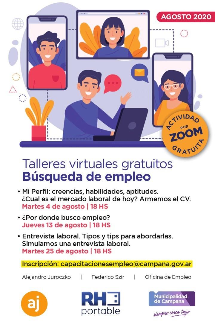 Campana: La semana próxima comienzan los talleres virtuales gratuitos de búsqueda de empleo