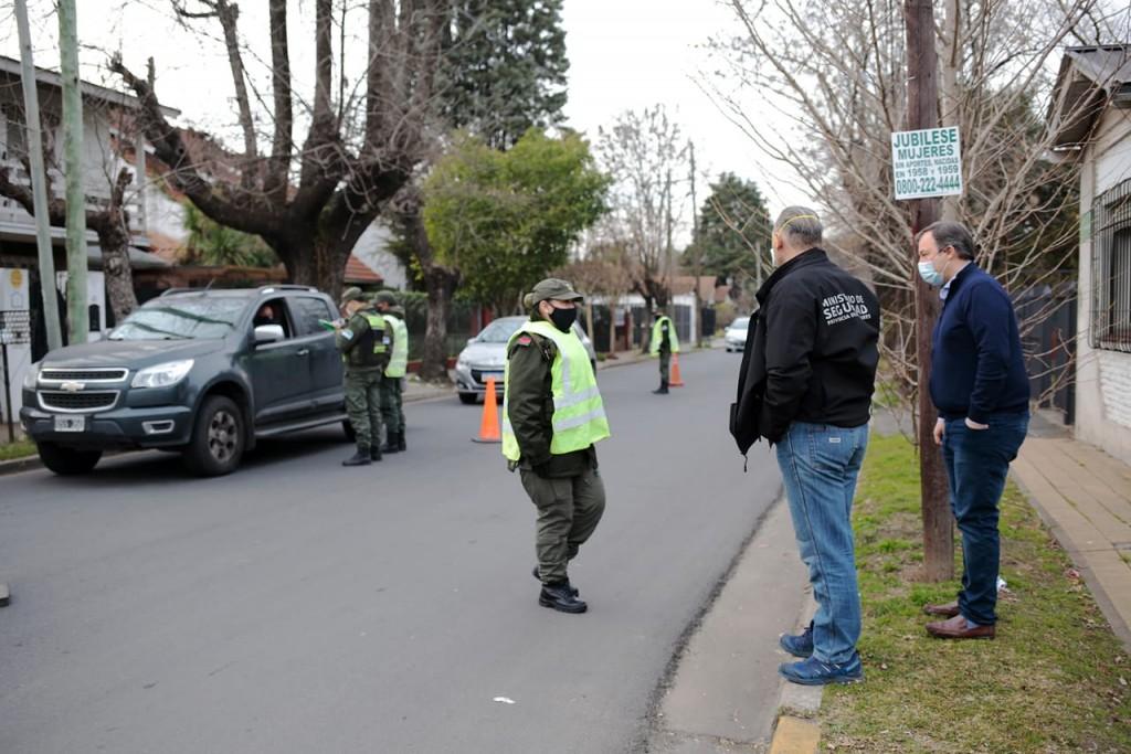 Alte. Brown: Berni y Cascallares recorrieron controles de gendarmería