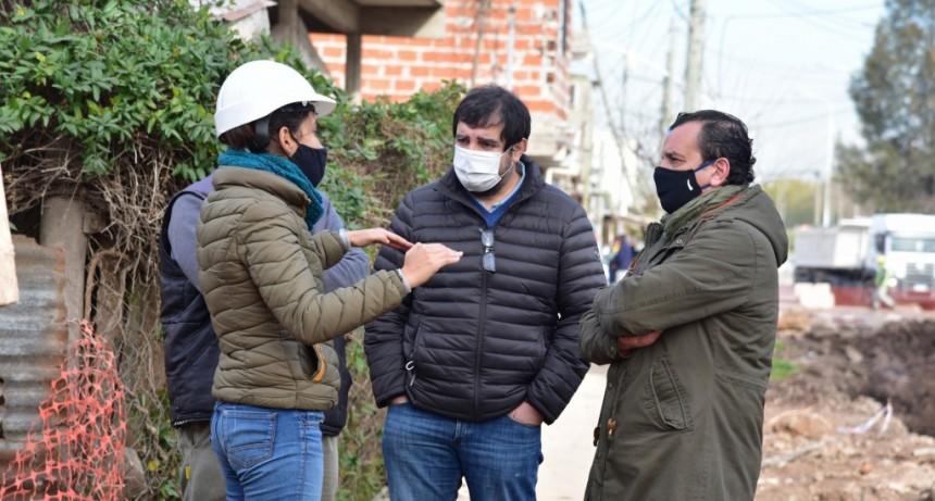 San Martín: El Municipio avanza con obras de pavimentación en la ciudad