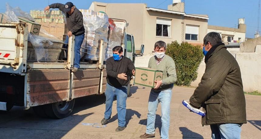 H. Yrigoyen: Desde el Ministerio de Desarrollo bonaerense enviaron suministros alimentarios