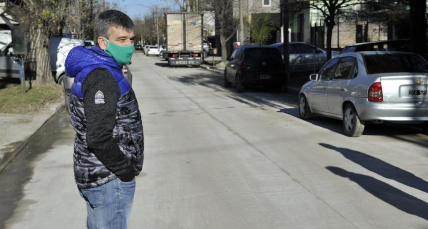 Hurlingham: Zabaleta inauguró la repavimentación de calle Miranda, en el barrio Villa Alemania