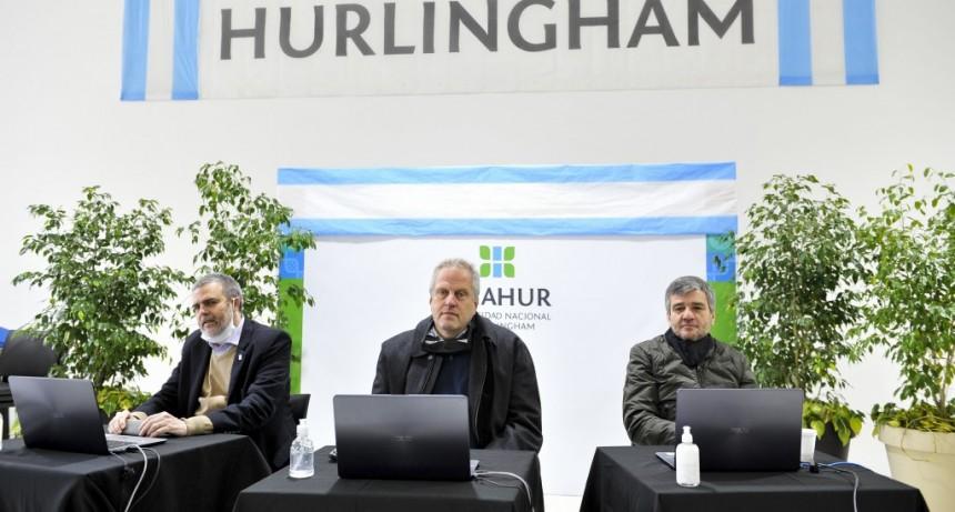 Zabaleta y Perczyk presentaron el plan de obras para la Universidad de Hurlingham