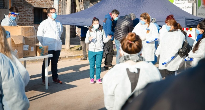 Pte. Perón: El operativo de búsqueda de Covid-19 sigue recorriendo los barrios