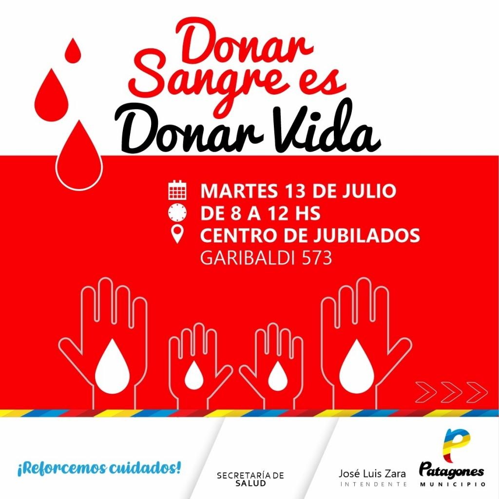 C. de Patagones:  Nueva jornada de donación de sangre en el distrito