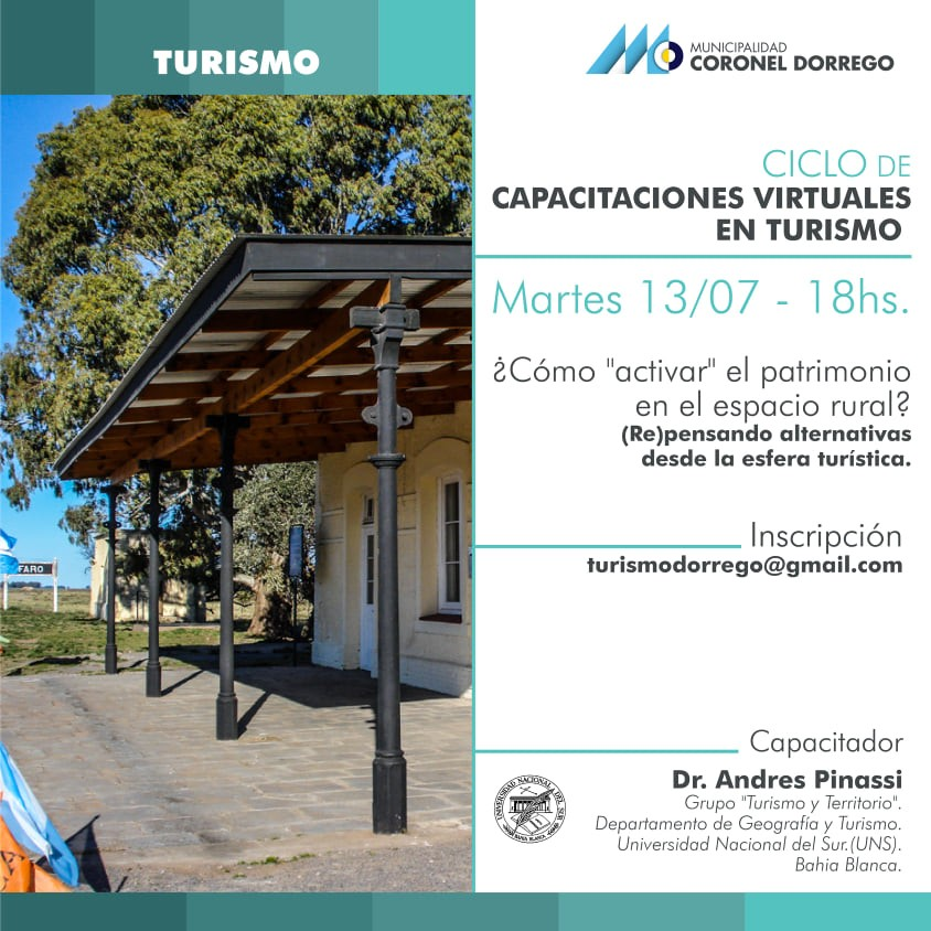 Cnel. Dorrego: Exitosa capacitación virtual sobre Turismo