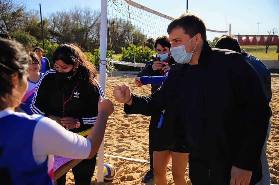 Avellaneda: Alejo Chornobroff presenció el torneo de beach vóley en el marco de los Juegos Bonaerenses 2021