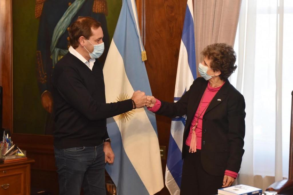 La Plata: El Intendente Garro se reunió con la Embajadora de Israel