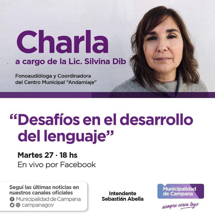 """Campana: Se presenta la charla """"Desafíos en el desarrollo del lenguaje"""""""