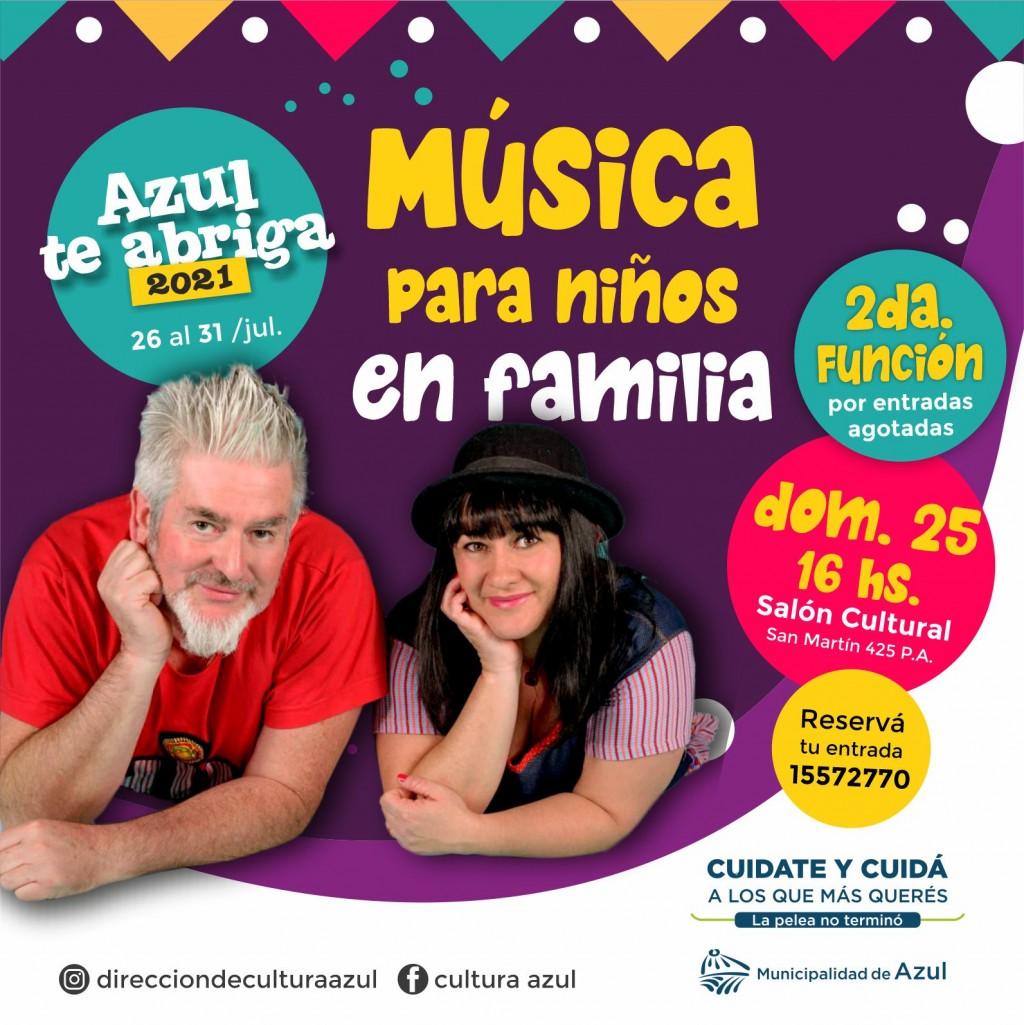 """Azul: Nueva función de """"Música para Niños en Familia"""""""