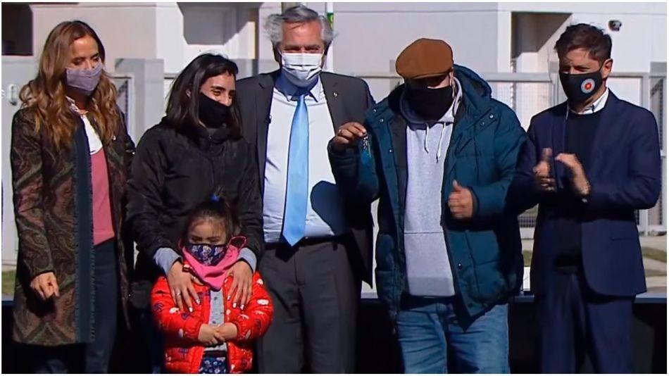 Merlo: Alberto Fernández participó en el acto del Plan Procrear y en la entrega de viviendas