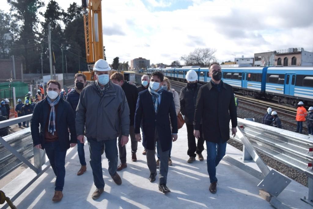 Ituzaingó: Martín Marinucci y Pablo Descalzo recorrieron el avance de los puentes modulares
