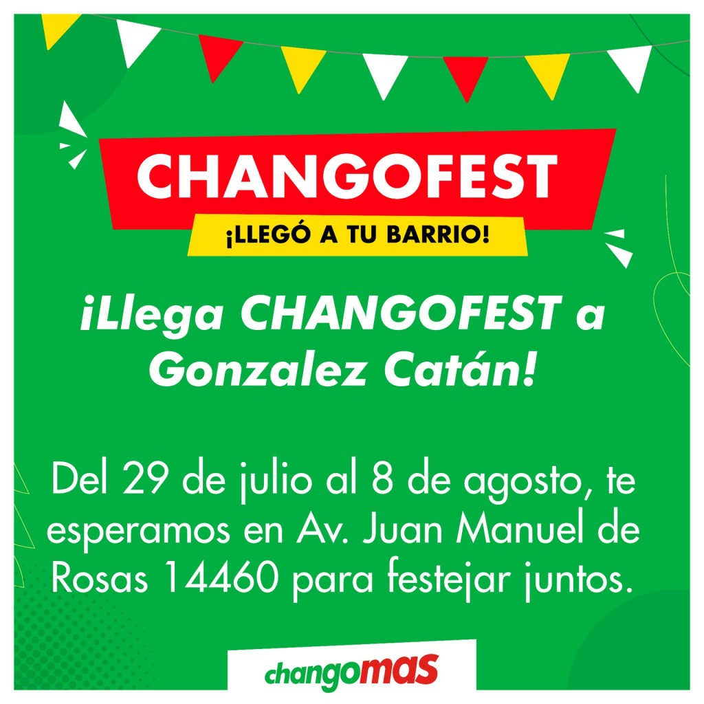 González Catán: CHANGOFEST llegó al distrito con una increíble fiesta de descuentos