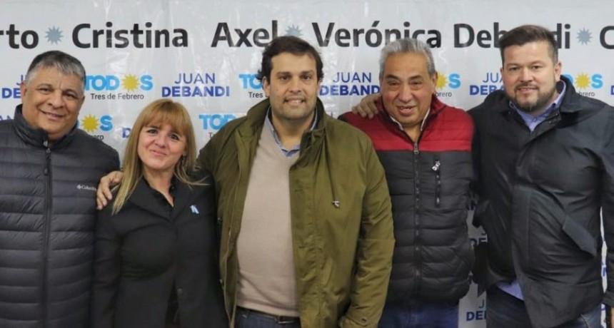 Tres de Febrero: Juan Debandi obtuvo el apoyo de los cuatro candidatos locales del Frente Todos