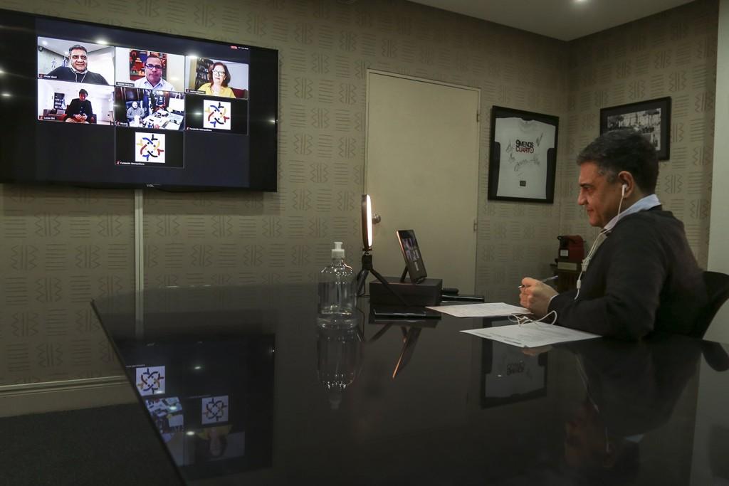 Macri, Ghi y Curutchet dialogaron sobre el impacto de la pandemia en el AMBA