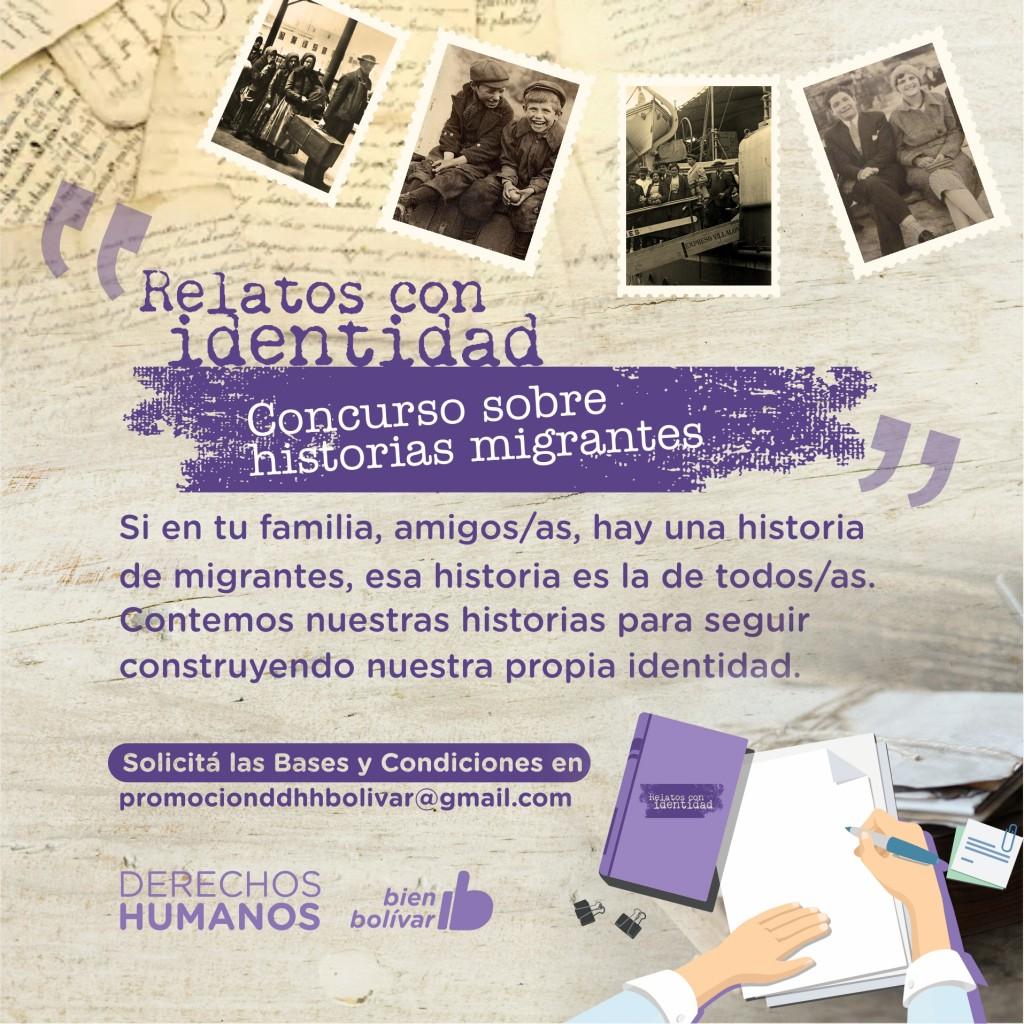"""Bolívar: El 10 de agosto cierra el plazo de presentación del """"Concurso sobre historias migrantes - Relatos con identidad"""""""