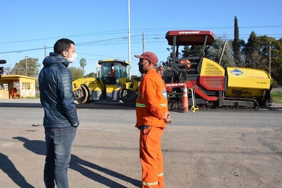Gral. Rodríguez: Luego de un año de paralización, se reanudaron las obras de la Ruta 7