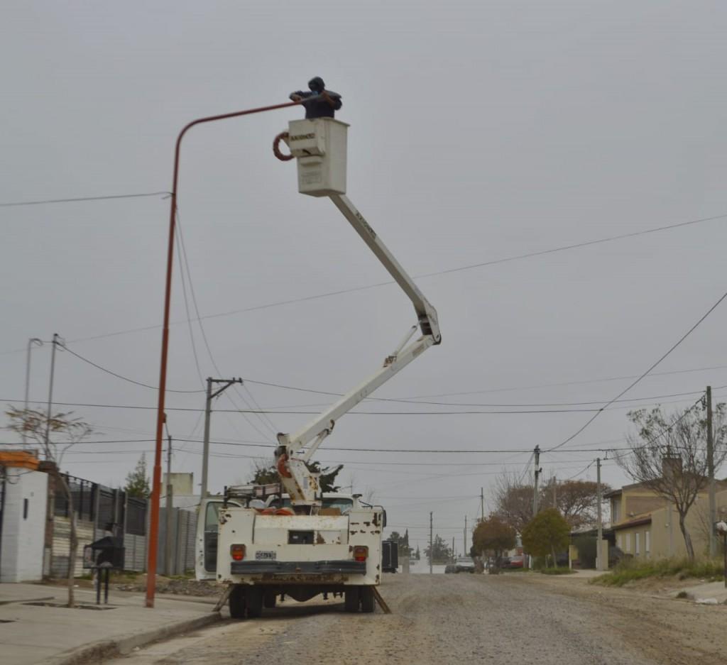 Carmen de Patagones: Continúa el Plan de Reconversión lumínica en el distrito
