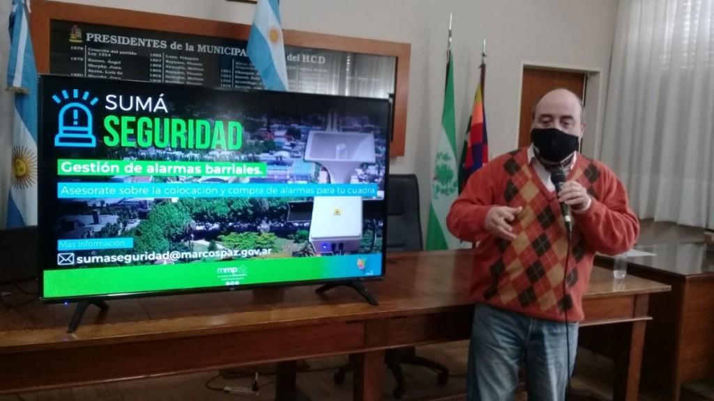 Marcos Paz: El intendente Ricardo Curutchet presentó el programa ´Sumá Seguridad´