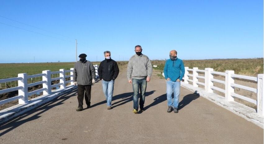 Gral. Madariaga: Reinauguraron el puente de Arroyo Chico