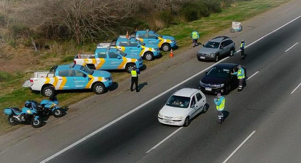 Campana: Se realizó un importante operativo de control vial por el fin de semana largo