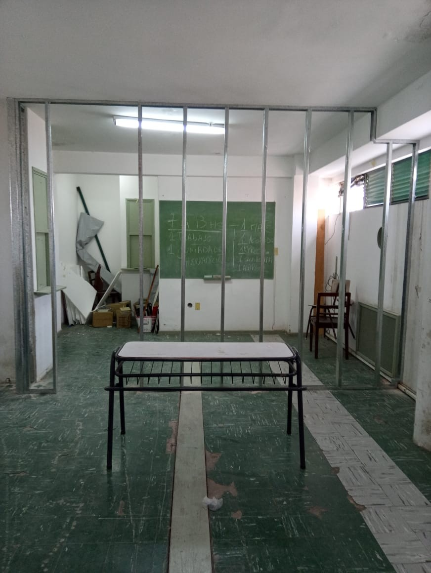 Baradero: Inició la remodelación para la nueva sala de Inspectores de Educación de Baradero