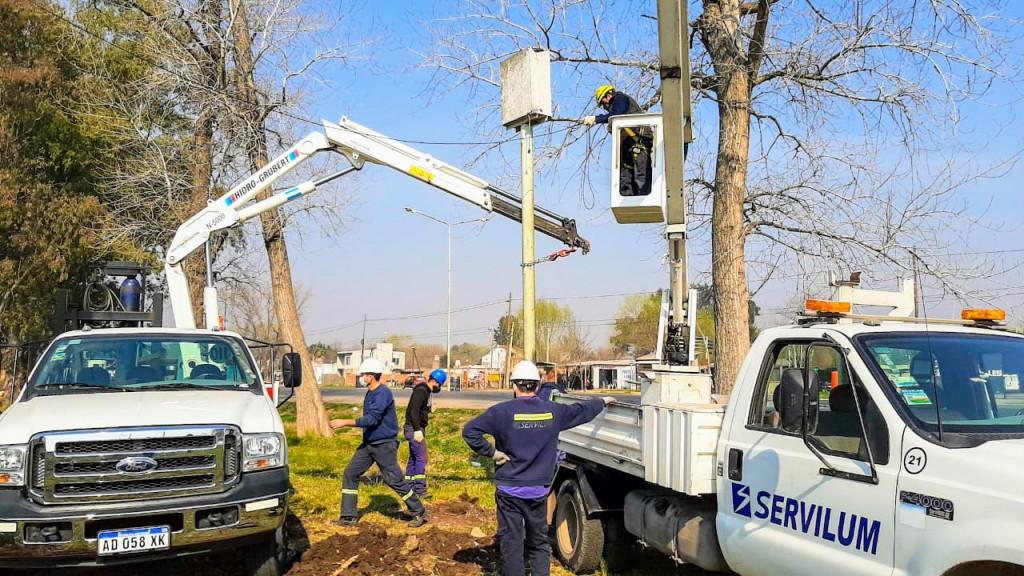 San Vicente: Se iniciaron las obras de iluminación sobre ruta 210