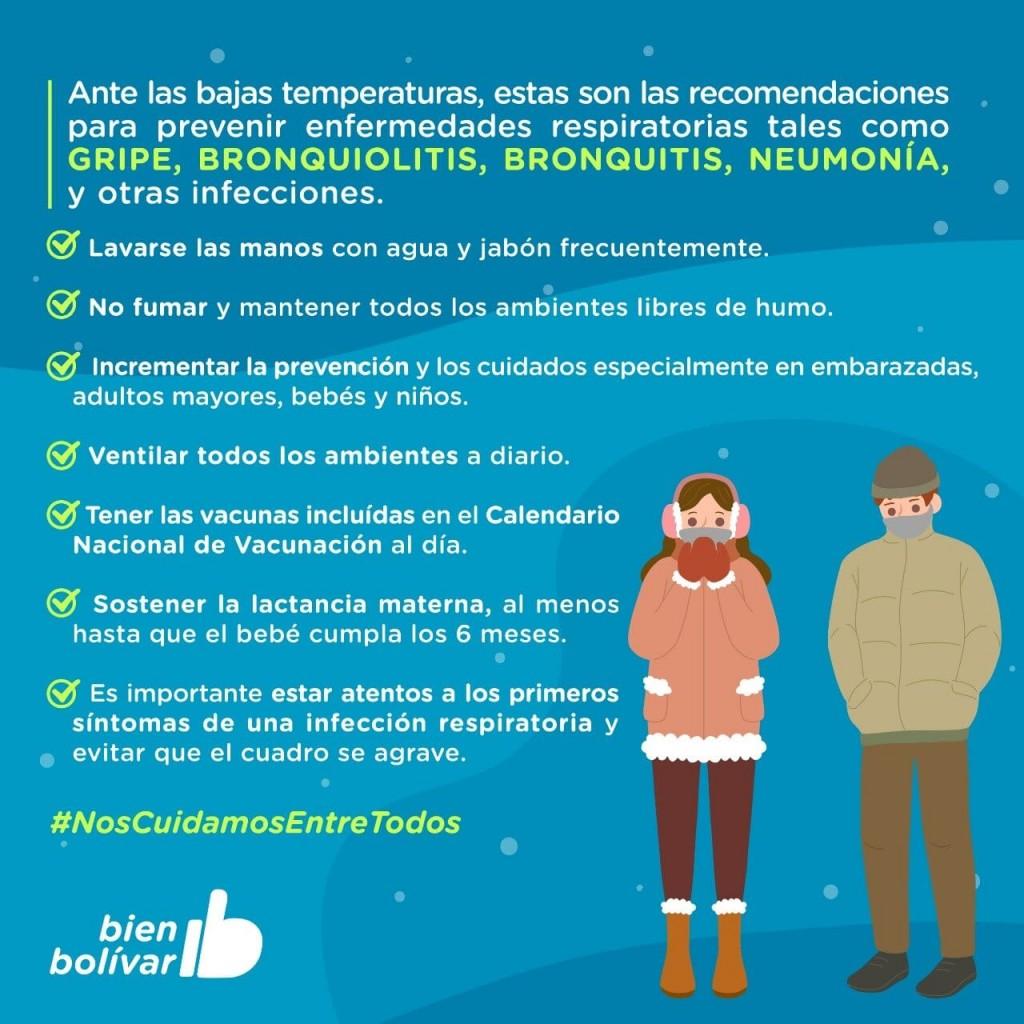 Bolívar: La Municipalidad brinda recomendaciones para evitar afecciones respiratorias