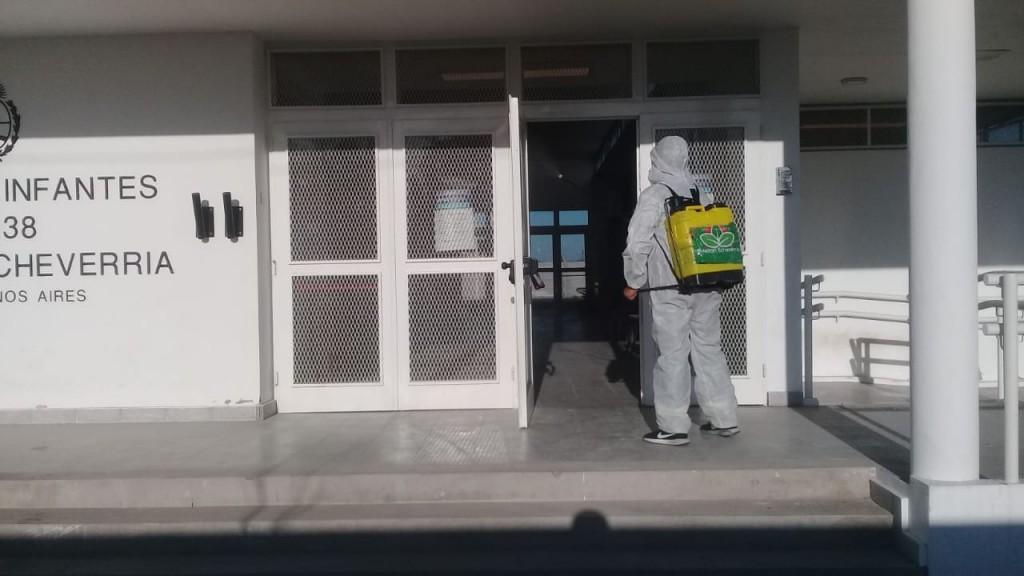 E. Echeverría: Operativos de fumigación y desinfección en el distrito