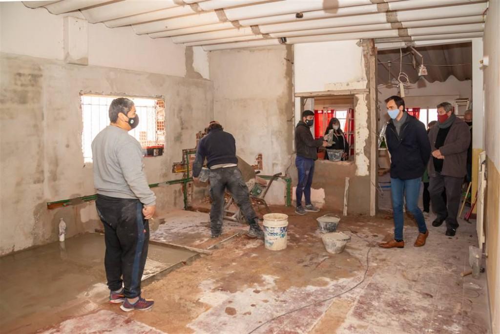 Junín: El Municipio realiza importantes obras en el jardín maternal Globo Rojo