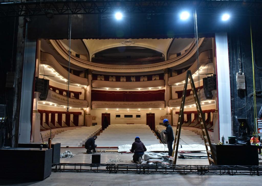 Bahía Blanca: Puesta en valor del Teatro Municipal, Tratamiento de ignifugado del telón principal