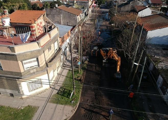 Lanús: Comienzan las obras de repavimentación en corredores de transporte público