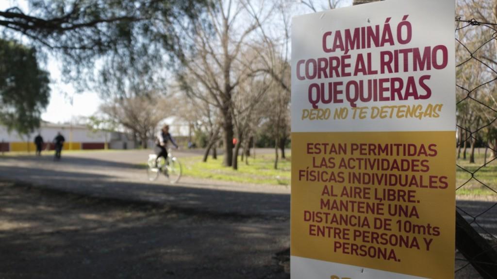 Lanús: Grindetti supervisó el regreso de la actividad deportiva individual en los parques Municipales