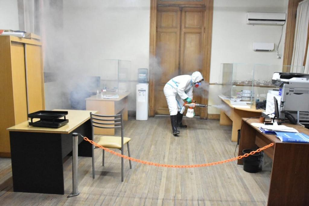 Chivilcoy: Se llevó a cabo la sanitización del Palacio Municipal