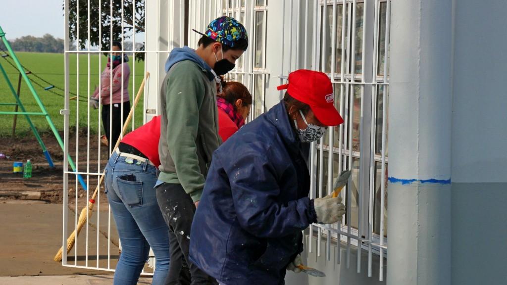 Suipacha: Se realizaron trabajos de refacción integral en la Escuela 11