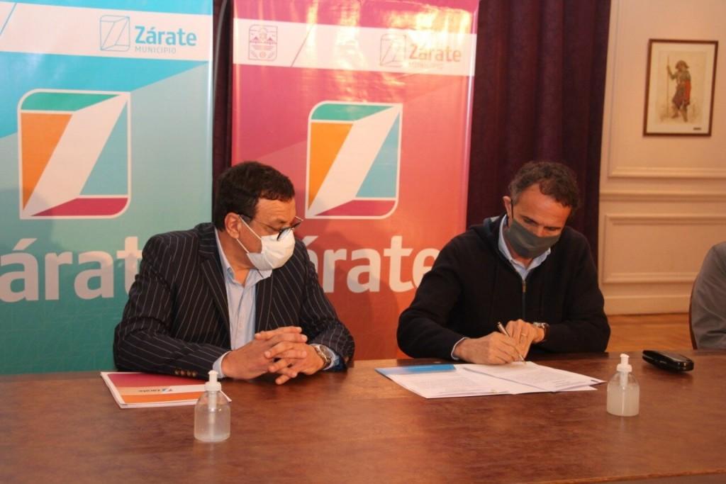 Zárate: Cáffaro, recibió al Ministro de Obras Públicas de la Nación, Gabriel Katopodis